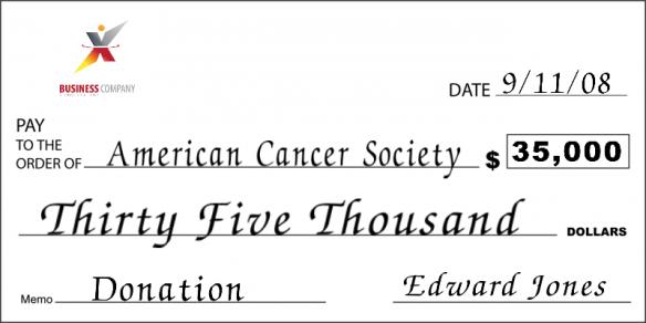 big blank check