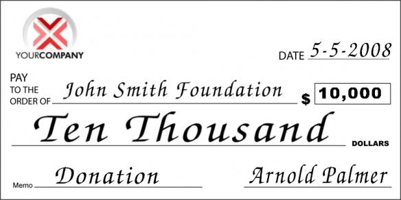 big donation check