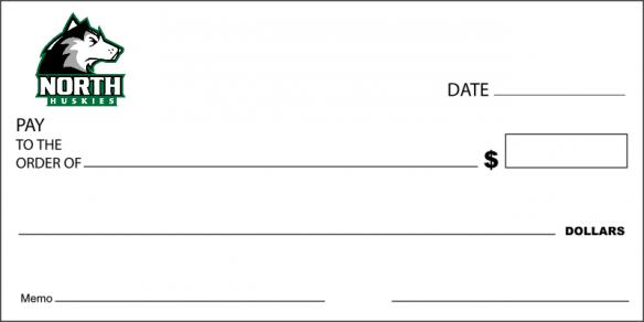 big school donation check