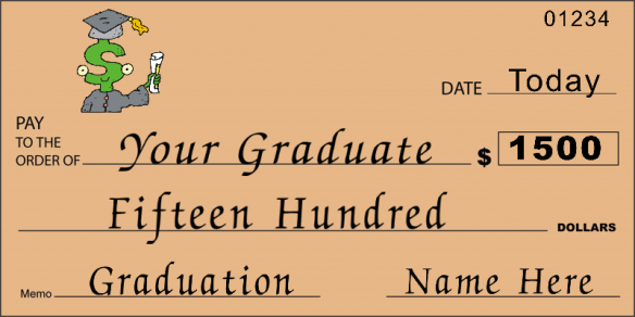 novelty graduation check