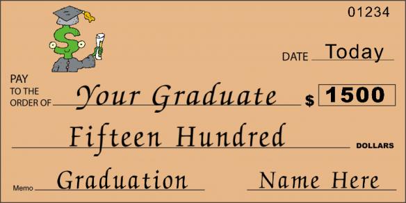 novelty graduation check