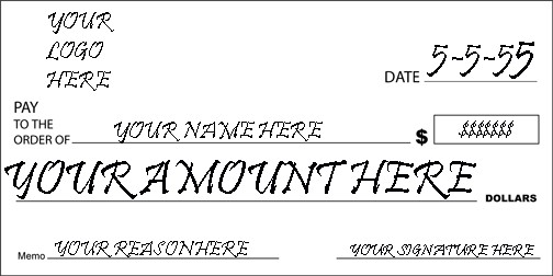 large check template